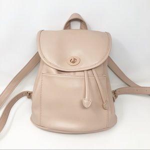 Urban Outfitters Blush Leather City Backpack